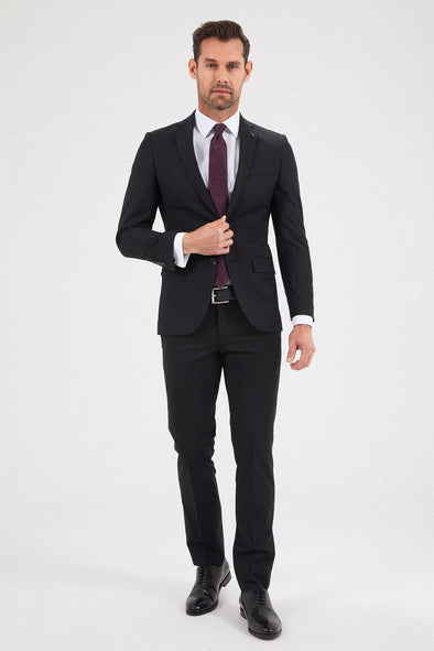 Sayki Men's Andrea Slim Fit Single Breasted Suit