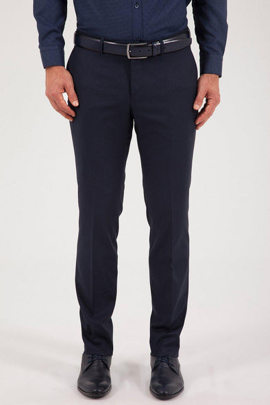 SAYKI Men's Dynamic Fit Classic Navy Pant