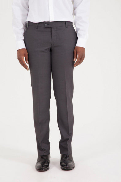 SAYKI Men's Slim Fit Grey Pant