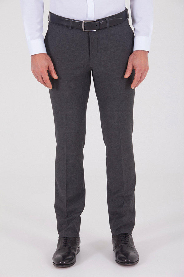 Sayki Men's Slim Fit Classic Grey Pant