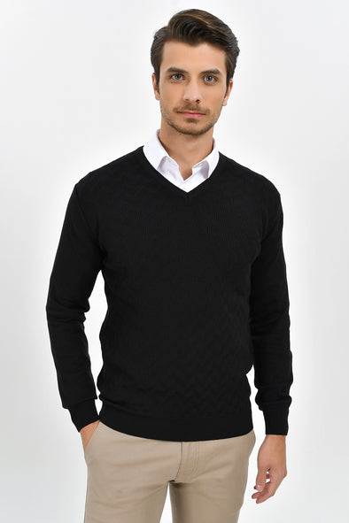 Sayki Men's V Neck Knitwear