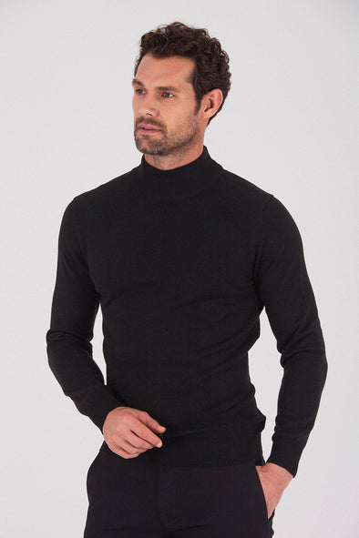 Sayki Men's Half Turtleneck Knitwear