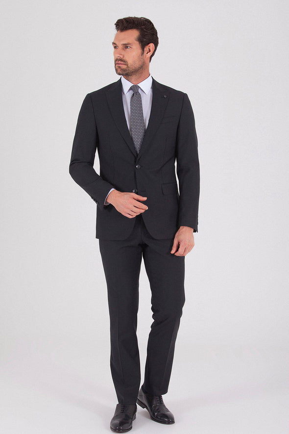 Sayki Men's Lucas Slim Fit Navy Suit