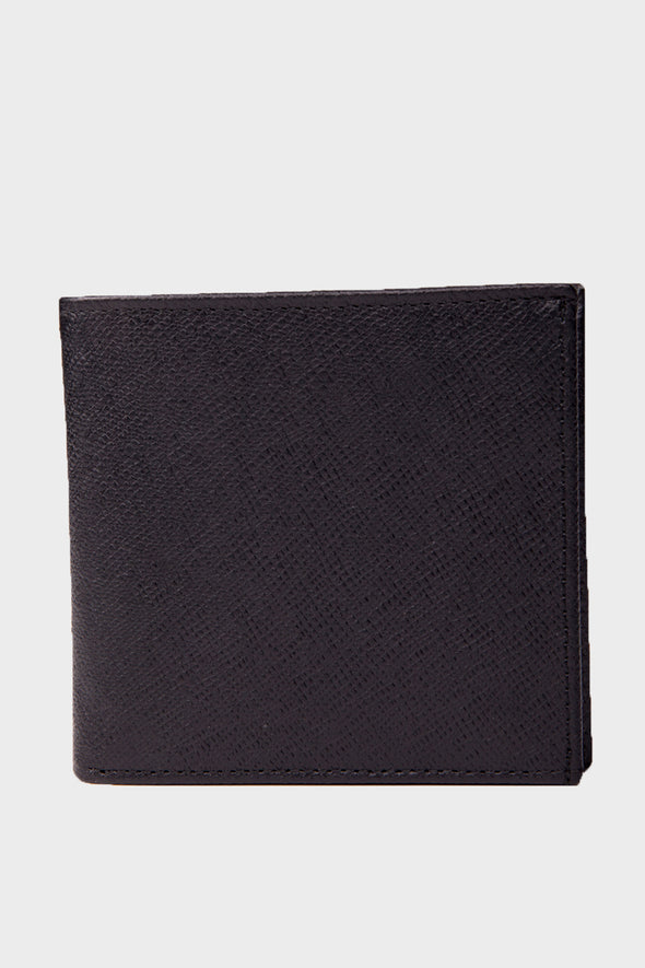 SAYKI Men's Leather Black Wallet