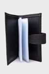 SAYKI Men's Leather Black Card Holder