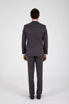 Sayki Men's Lucas Slim Fit Single Breasted Grey Suit