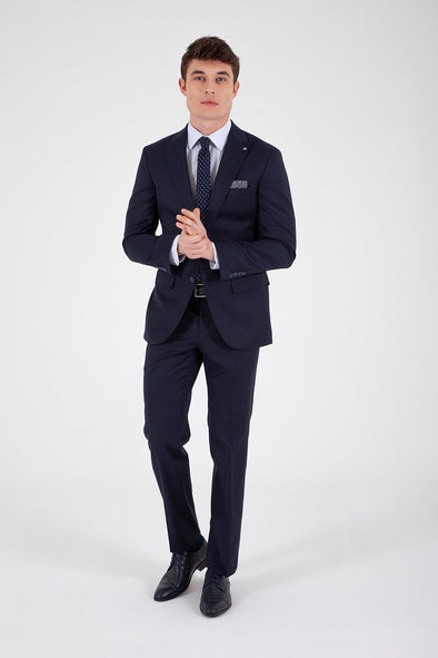 Sayki Men's Slim Fit Single Breasted Suit