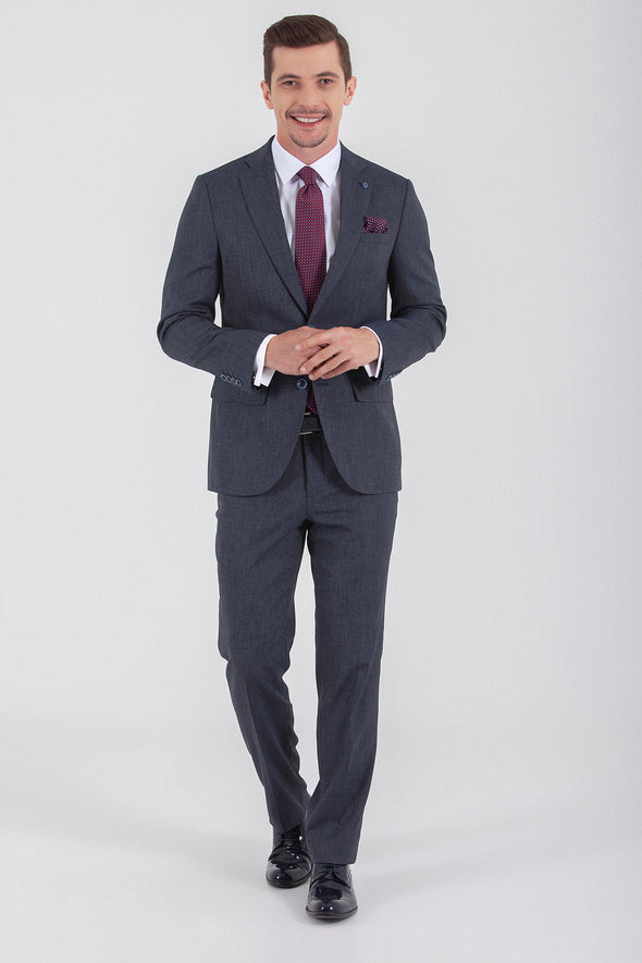 Sayki Men's Andrea Slim Fit Navy Suit