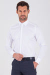 Sayki Men's Regular Fit White Cotton Shirt