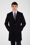 Sayki Men's Black Overcoat