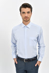 Sayki Men's Classic Fit Light Blue Shirt