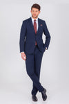 SAYKI Men's Single Breasted Slim Fit Suit