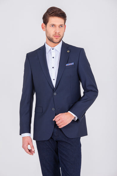 SAYKI Men's Single Breasted Slim Fit Lucas Blazer