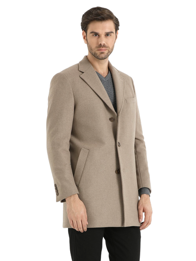 SAYKI Men's Arizona Camel Overcoat