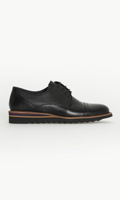 SAYKI Men's Casual Analin Eva Black Leather Shoes