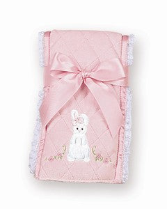 Pink Bunny Cottontail Burp Cloth