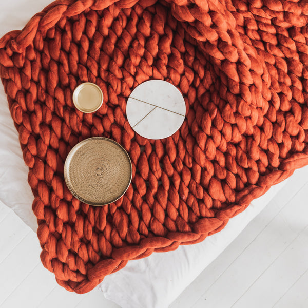 rust colour blanket