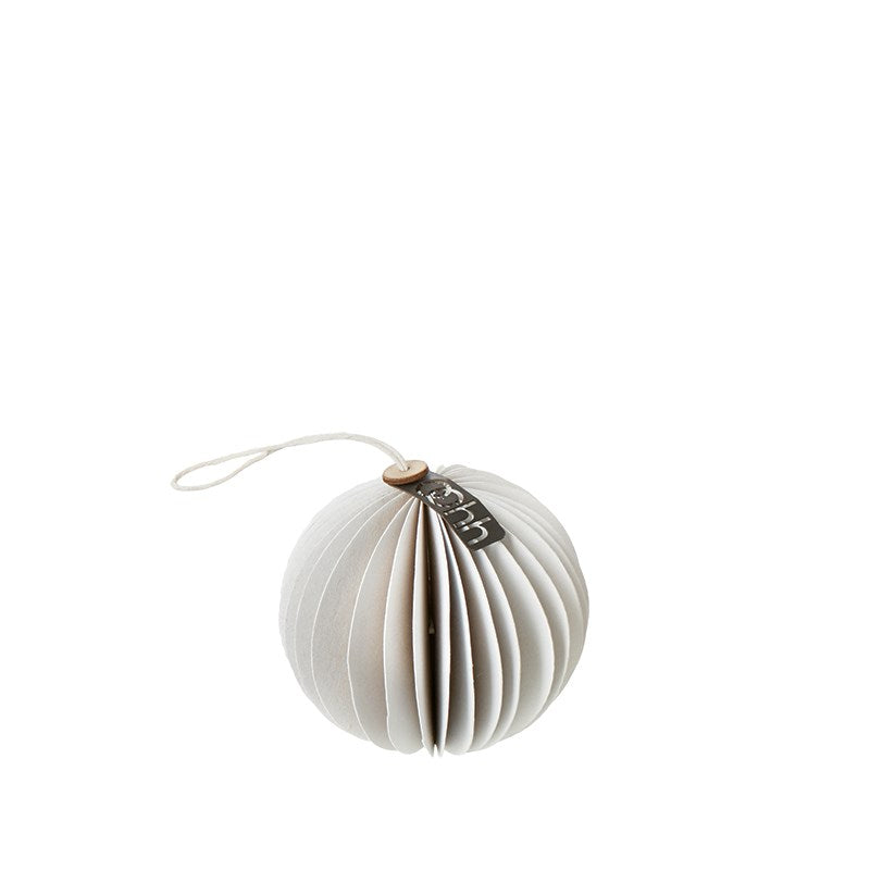 Recycled Paper Xmas Ball Tree Decoration