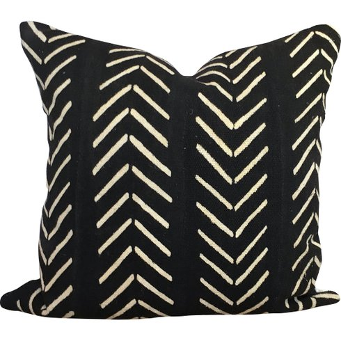 Vintage Handmade Traditional African Mudcloth Pillow