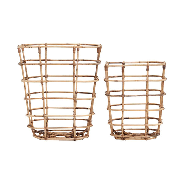 Set of 2 Rattan Baskets by House Doctor