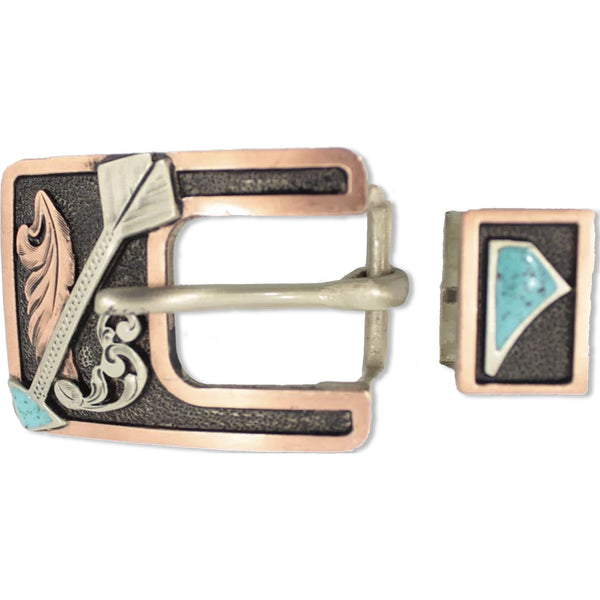 "Cherokee ""Handcrafted"" Buckle Set"