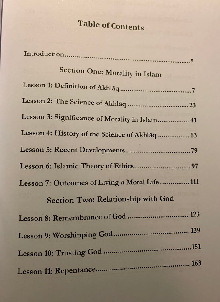 Lessons on Islamic Morals 2nd Edition