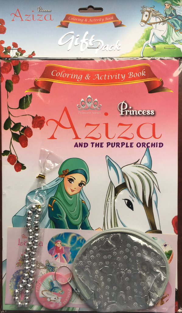 Princess Aziza and the Purple Orchid Coloring and Activity Book Gift Set