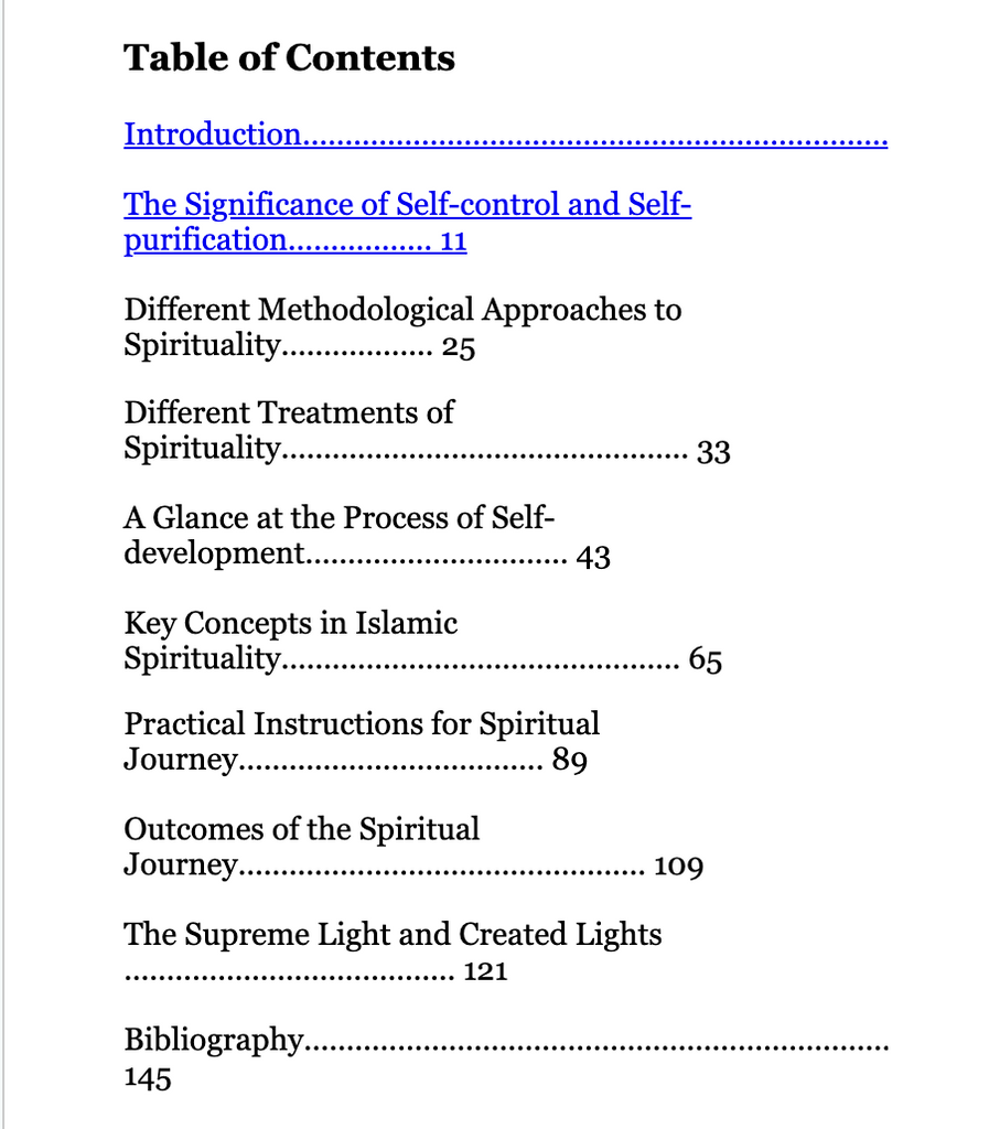 Self Development Essays on Islamic Spirituality