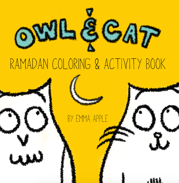 Owl & Cat Ramadan Coloring and Activity Book