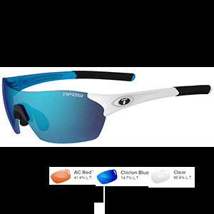 Tifosi Optics Brixen Sunglasses Skycloud-Clarion Blue/Ac Red/Clear, One Size - Men's