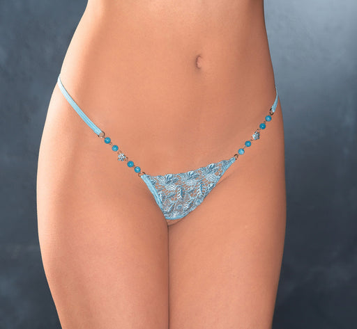PANTY JEWELED FRONT BLK 3 PK