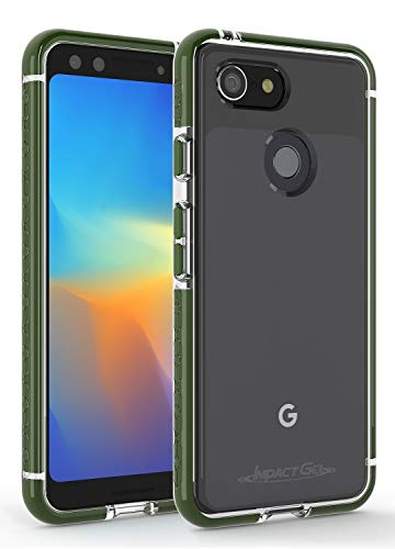 Impact Gel Compatible with Google Pixel 3 Crusader Lite Series Slim Protective Case (Black)