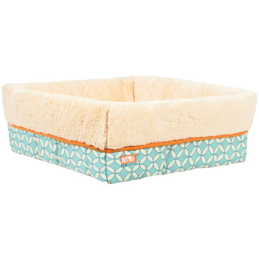 "Animal Planet Square Cuff Mod Geo, Cream & Teal, 17"" x 6"", Cream; Teal"