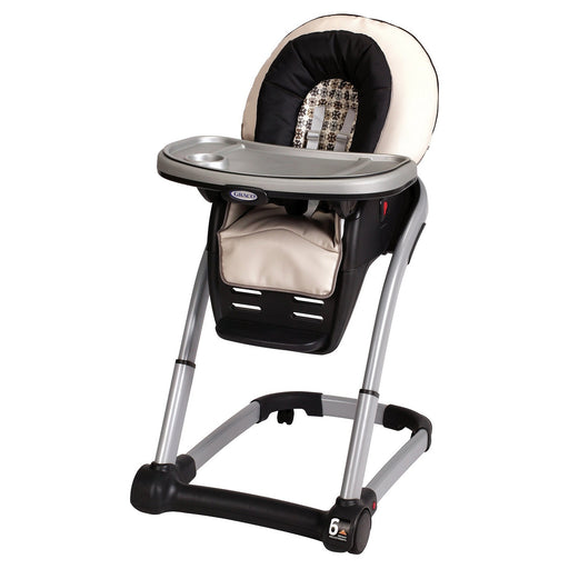 Graco Blossom 4-in-1 Seating System, Vance - Highchair to Infant Feeding Booster - Toddler Booster to Youth Chair - One Hand Removable Tray - Leatherette Seat Pad