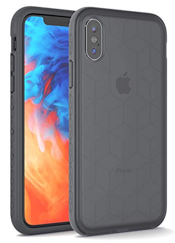 Impact Gel Compatible with Apple iPhone X/Xs Crusader Chroma Series Protective Case (Ice Grey)