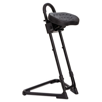 SS Series Sit/Stand Adjustable Stool, Black