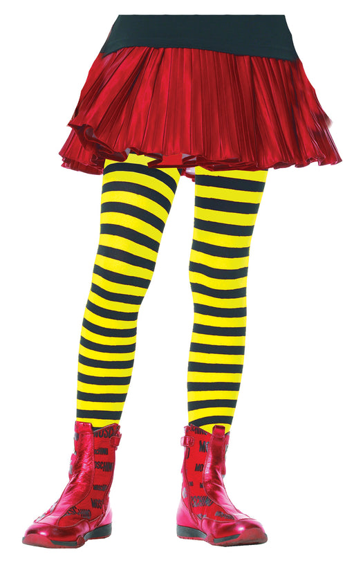 Children's Striped Tights Hosiery - X-Large