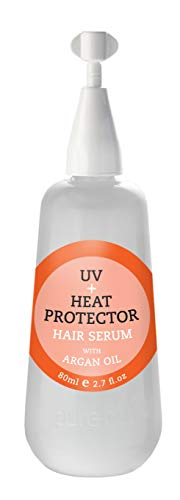 PURECODE UV + Heat Protector Serum with Argan Oil 2.7oz Moisturizes, Defends Sun Damage and Adds Shine to the Hair