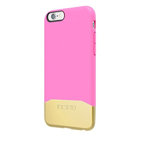 iPhone 6S Case, Incipio Edge Chrome Case [Hard Shell] Cover fits Both Apple iPhone 6, iPhone 6S - Highlighter Pink/Gold