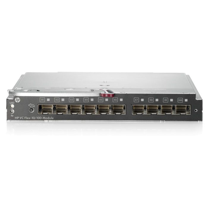 HP Virtual Connect Flex-10/10D Module - For Switching Network, Data Networking, Optical Network - 10 x SFP+ 10 x Expansion Slots