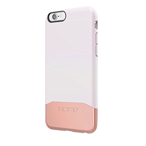 iPhone 6S Case, Incipio Edge Chrome Case [Hard Shell] Cover fits Both Apple iPhone 6, iPhone 6S - Iridescent White/Rose Gold