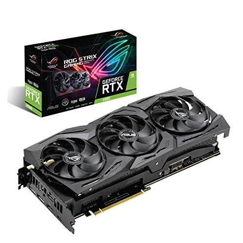 ASUS ROG Strix GeForce RTX 2080 A8G GDDR6 HDMI DP 1.4 USB Type-C (ROG Strix RTX-2080-A8G) Graphic Cards ROG-STRIX-RTX2080-A8G-GAMING