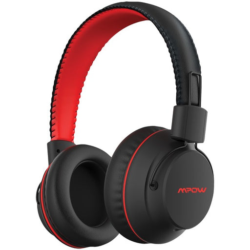 Mpow X3.0- Wireless Over Ear Headphones, Comfortable, Sweatproof, Superior Audio, Tangle Free, Signal Enhance Technology- Red