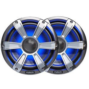 Fusion Entertainment SG-FL77SPC 280W Coaxial Sports Marine Speaker with LED, Chrome, 7.7""