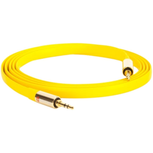 Griffin Premium Flat AUX Cable, Tangle and Kink Resistant, 6 feet, Durable, Yellow