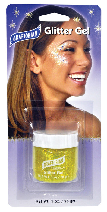 Morris Costumes Glitter Gel Yellow 1 Oz
