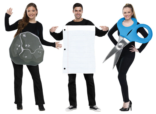 Rock Paper Scissors Costume Set - Standard - Chest Size 33-45