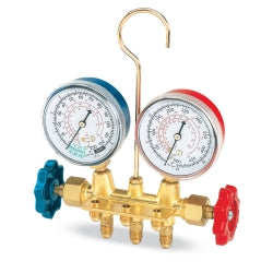 FJC 6607 R12 Brass Manifold Gauge Set