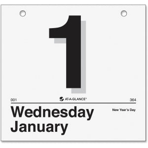 "AT-A-GLANCE Daily Wall Calendar Refill, January 2018 - December 2018, 8-1/2"" x 8"", ""Today Is"" Design (K450)"
