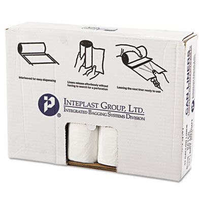 * High-Density Can Liner, 33 x 39, 33gal, .63mil, Clear, 25/Roll, 10 Rolls/Carton